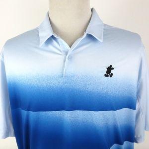 Nike Golf Dri Fit XL Polo Shirt Mickey Mouse Blue